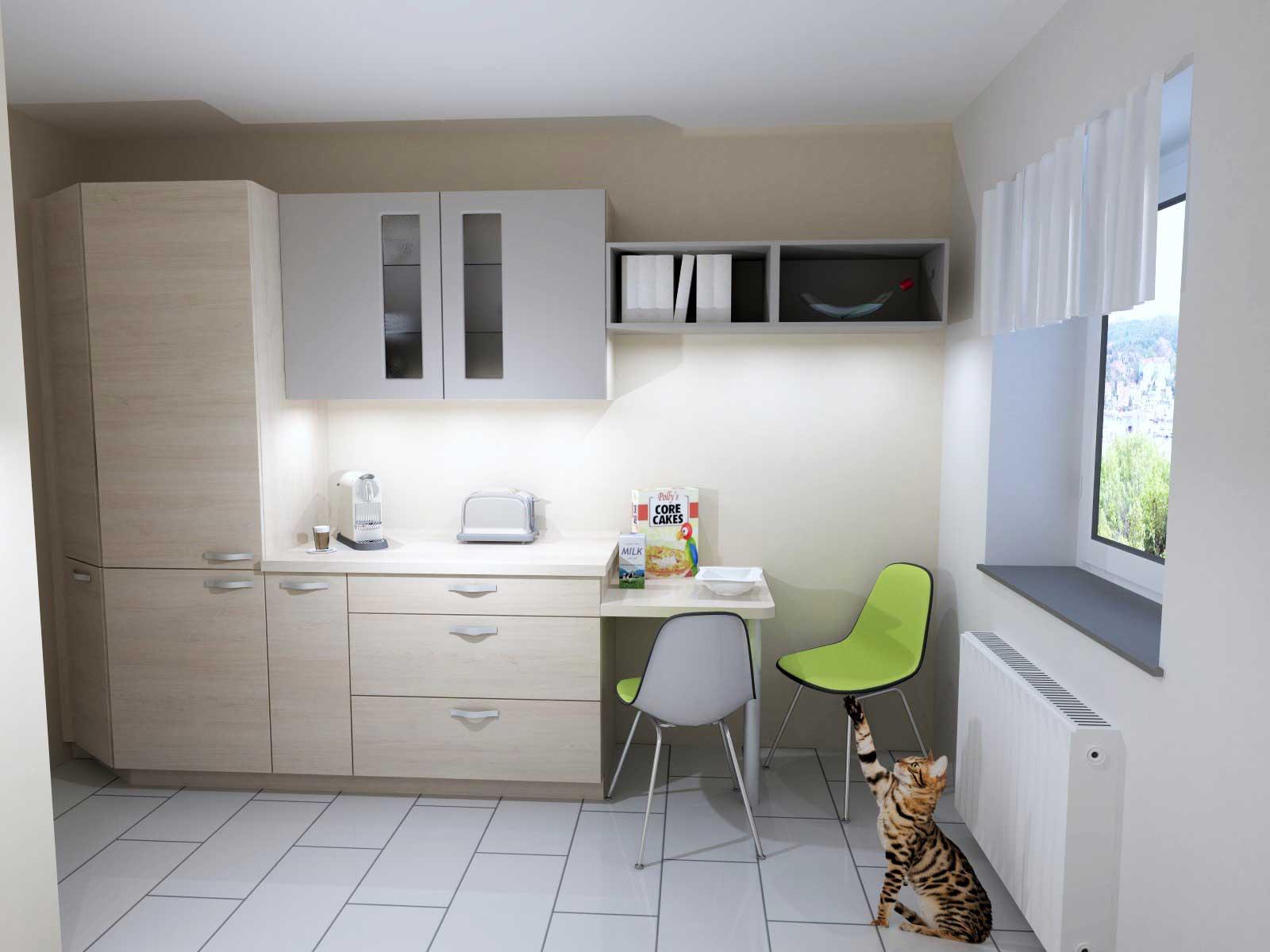 kleine k che ganz gro elbgefl ster. Black Bedroom Furniture Sets. Home Design Ideas